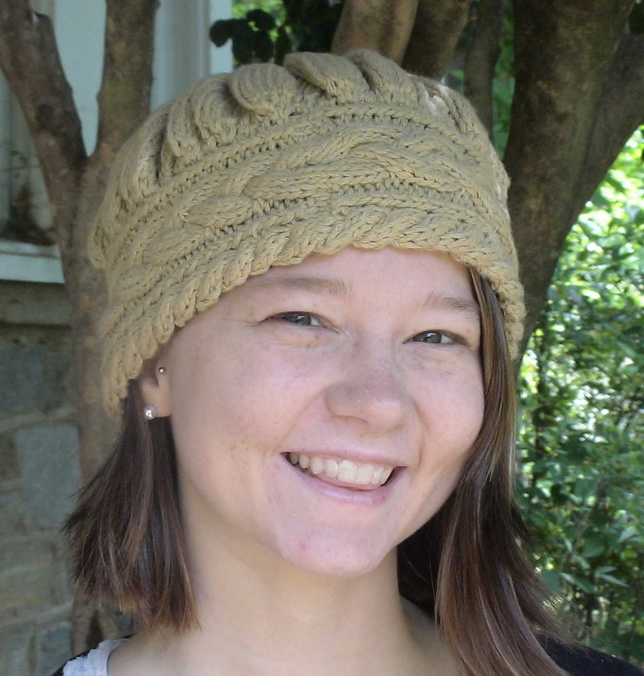 Cabled HeadBand Hat