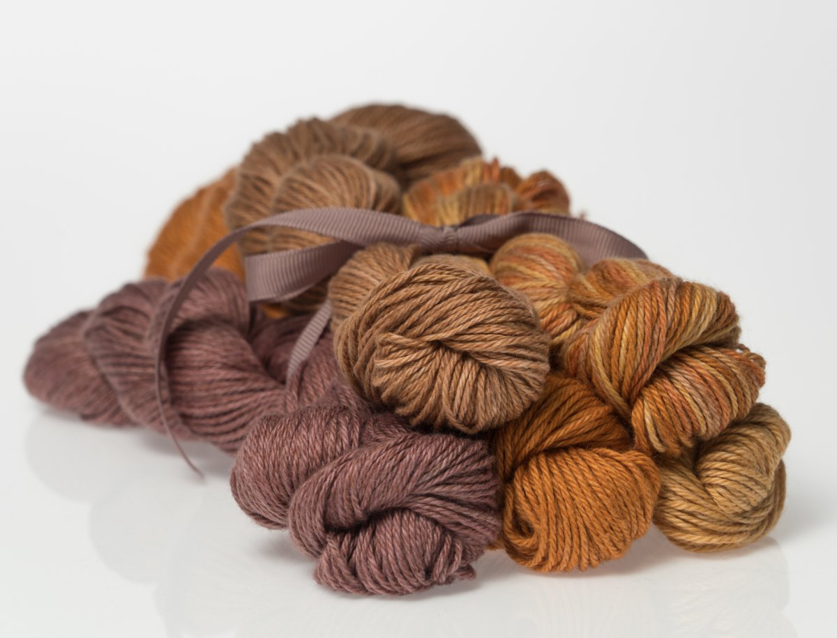 Heather Fingering Autumn Golds Colorway