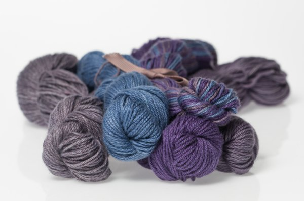 Heather Fingering Midnight Blue Colorway