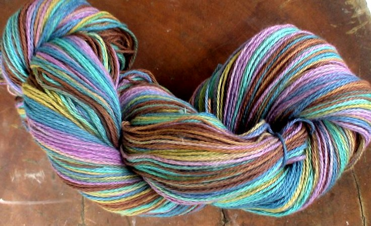 Fingering yarn multicolored