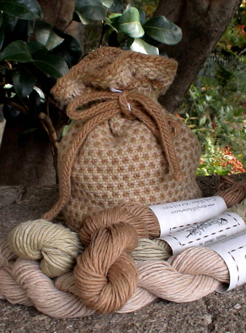 Linen Stitch Bag with Sally Fox's yarn