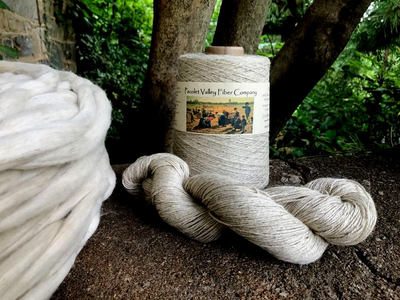 Cotton Linen Yarn hank and cone