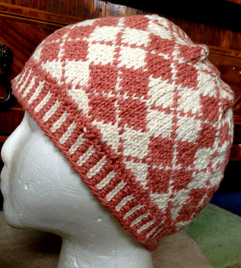 Easy Argyle Hat Pattern