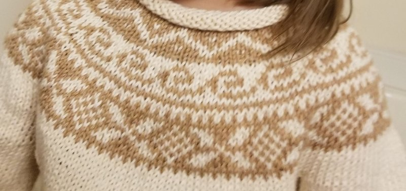 Knitted Fair Isle Yoke