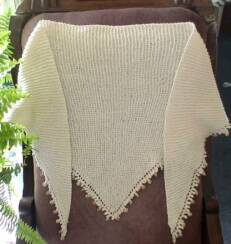 Beaded Picot Shawl