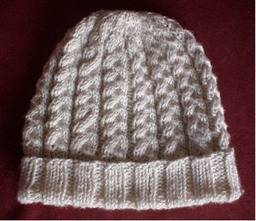 Cabled Hat in worsted weight