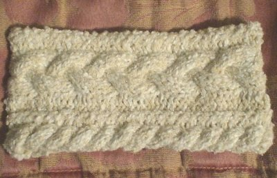 Easy Cabled Head Band Pattern