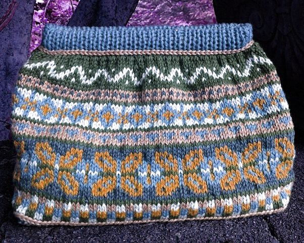 Knitted Fair Isle Bag Blues Kit
