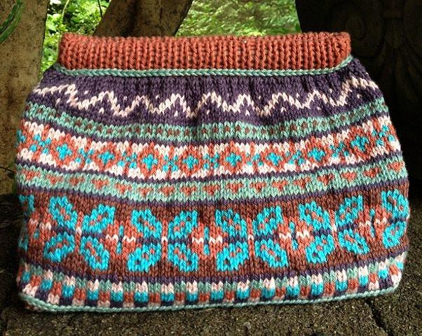 Knitted Fair Isle Bag