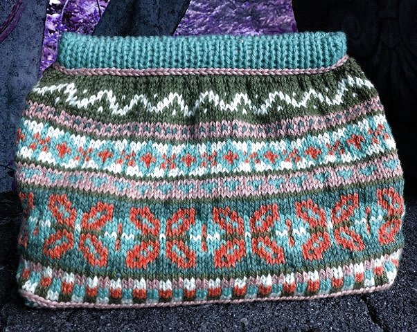 Teal, Sleet, Rust Fair Isle Bag Kit