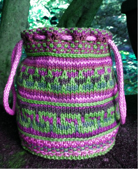 Mosaic Bag Pink and Green