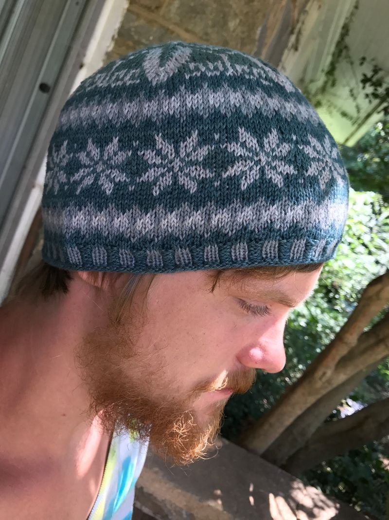 Knitted Snow Flake Hat