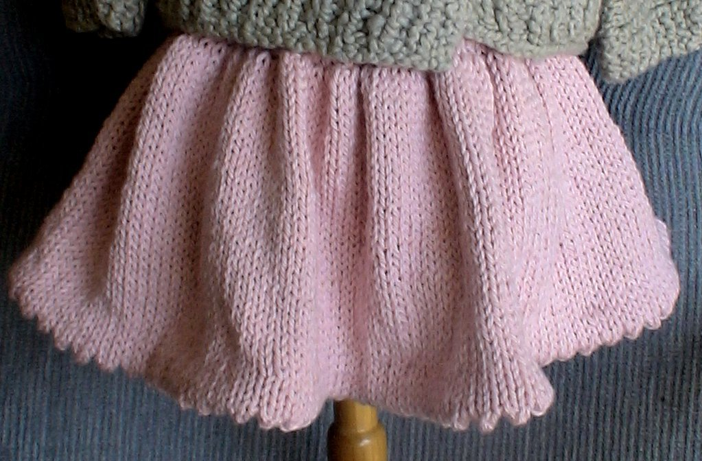 Knitted Baby Skirt