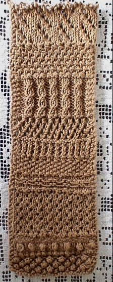 Sampler Scarf made with Fox Fibre