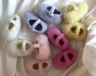 Felted Baby Bootie Pattern