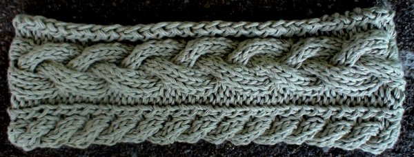 Cabled Headband pattern