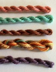 mini cakes organic cotton hand dyed Tempe colors