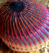Colorful Ribbed Hat Crown