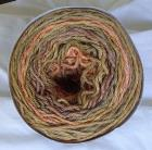 Golden Brown PeachLong Run Colorway Heather Fingering