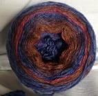 Maroon Blue Long Run Colorway Heather Fingering