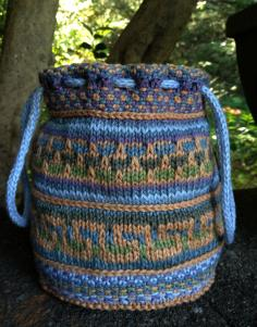 Knitted Slip Stitch Mosaic Bag