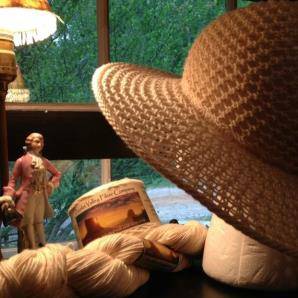knitting pattern for Wide Brim Summer Hat