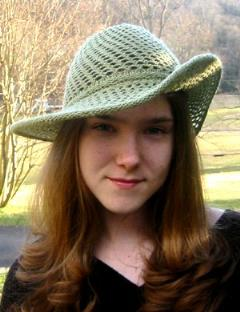 wide brim knitted hat pattern