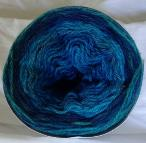 Blue Green Long Run Colorway Heather Fingering